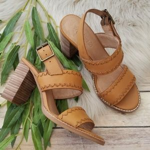 Madewell Whipstitch Block Heel Sandals